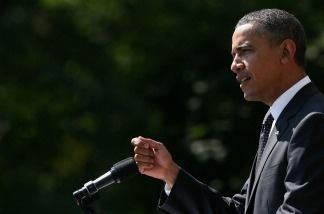 U.S. President Barack Obama speaks on his $400 billion jobs plan he is sending to Congress during a Rose Garden event at the White House September 12, 2011 in Washington, D.C.
