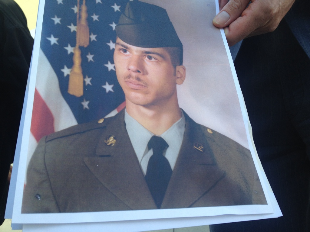A photo of Brian Newt Beaird during his days in the Army. He was fatally shot by the LAPD at the end of a car chase.