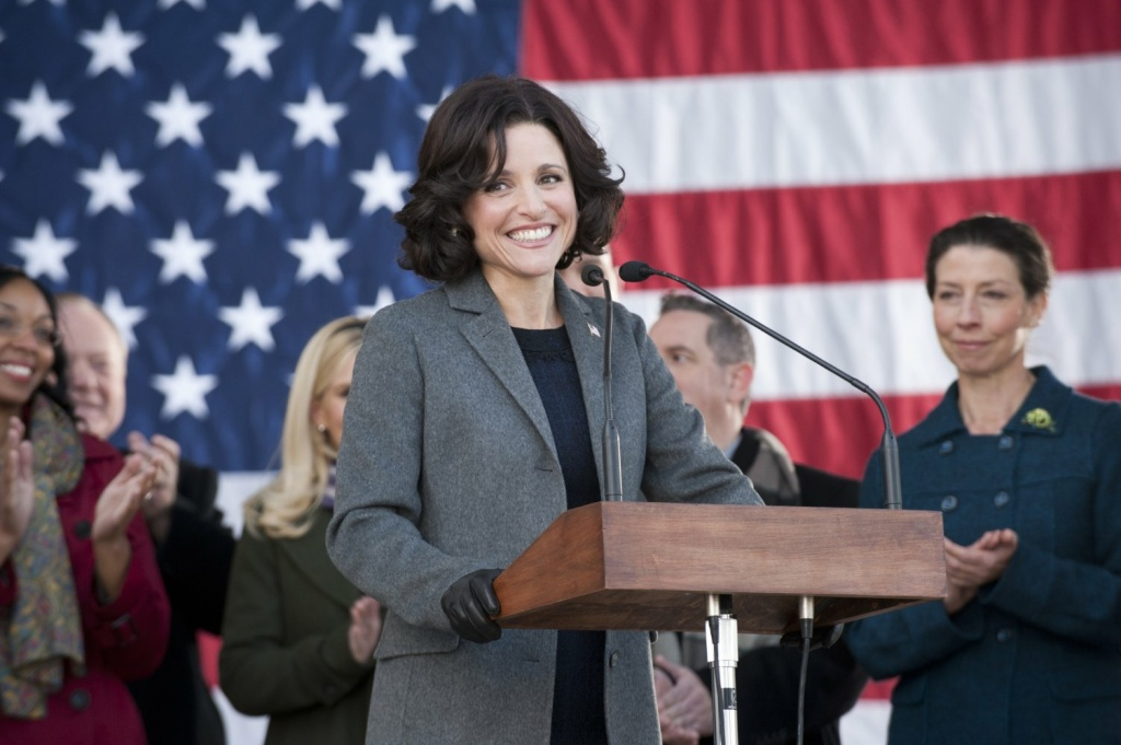 Julia Louis-Dreyfus as Selina Meyer on