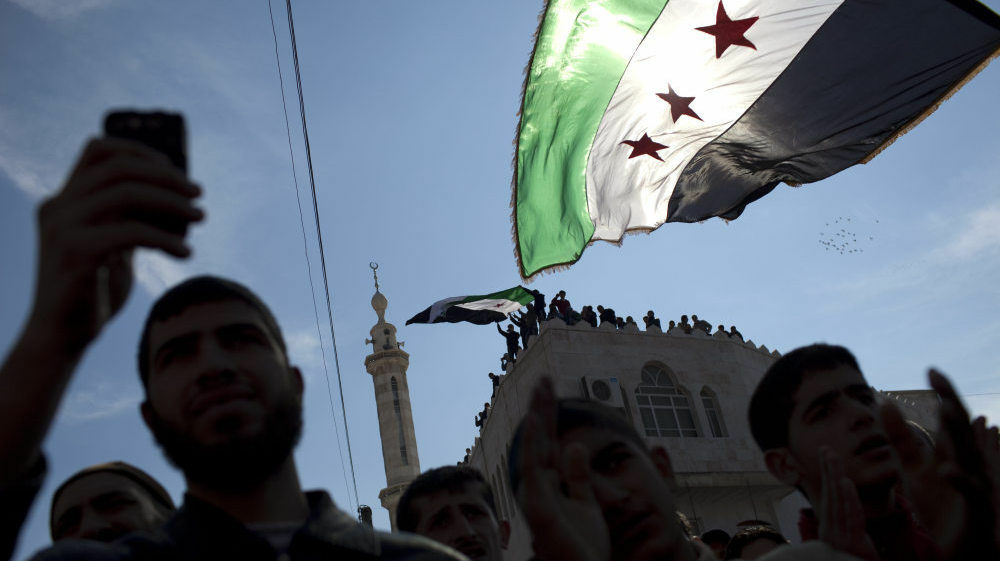 In this March 2012 file photo, protests in Syria carry on despite the crackdown by the government's security forces.