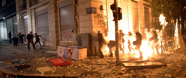 Violence Erupts As Greece Decides On Euro Future
