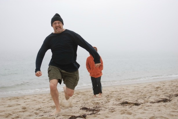 Get out of the way! Hank Rosenfeld at the beach.
