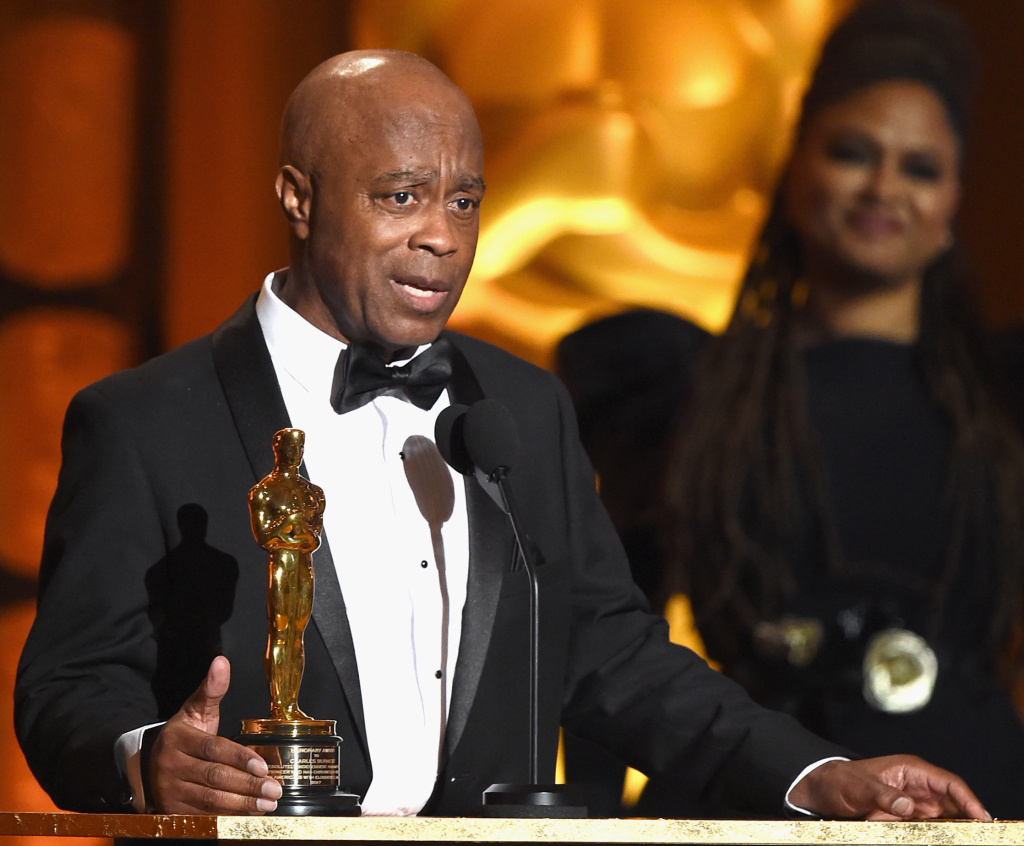 Writer/director Charles Burnett, winner of the Honorary Award presented by Ava DuVernay, speaks onstage at the Academy of Motion Picture Arts and Sciences' 9th Annual Governors Awards on November 11, 2017.