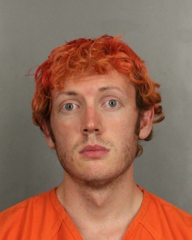 Booking photo for James Holmes, suspect in the Aurora, Colorado movie theater shootings that killed 12 people and injured 58 others.