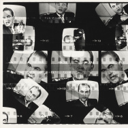Donald R. Blumberg, American, born 1935. Untitled, from the series Television Political Mosaics, 1968-1969, 1968-1969 Gelatin silver print. Image: 50.8 X 61 cm (20 X 24 in.), Courtesy of Donald R. and Grace Blumberg © Donald Blumberg