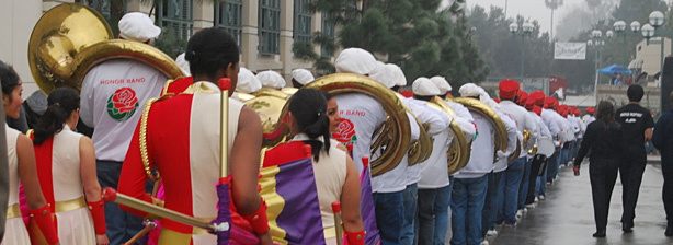 The Pasadena City College Tournament of Roses Honor Band is comprised of members of the Pasadena City College Marching Band and exceptional high school musicians from throughout Southern California. They along with 24 other marching bands from across the country will march in Friday's Tournament of Roses Parade.