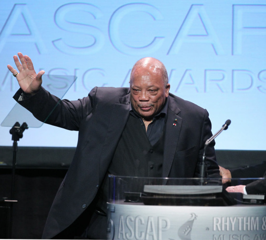 Composer/producer Quincy Jones speaks during ASCAP Rhythm & Soul Music Awards at The Beverly Hilton Hotel on June 29, 2012 in Beverly Hills, California.