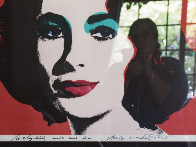 From Catherine Opie's 700 Nimes Road exhibit at MOCA, shot inside Elizabeth Taylor's LA home.