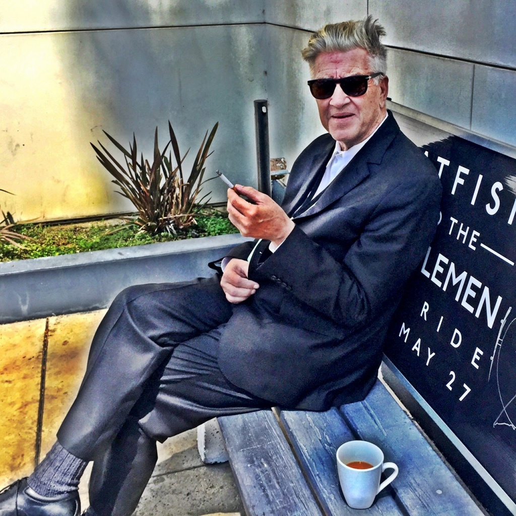 David Lynch, July 2016, Capitol Records, Hollywood.