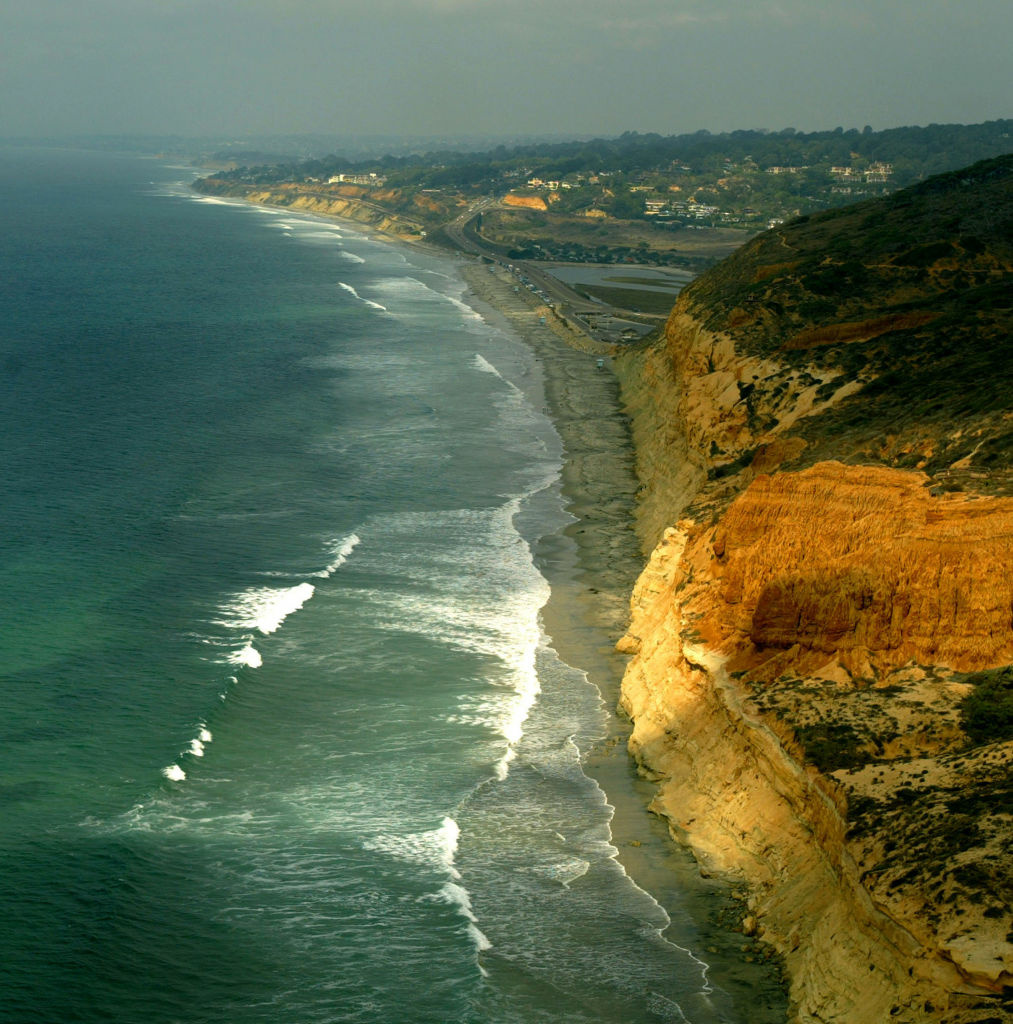 Torrey Pines State Beach in San Diego, CA.