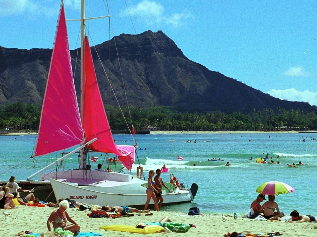 Waikiki Beach in Honolulu, Hawaii: Undercover police in Honolulu say they need to be exempt from laws barring sex with prostitutes because sometimes they can't reveal their identities too soon.