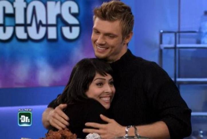 A screenshot of Backstreet Boys superfan Nadia Vazquez meeting the Backstreet Boys' Nick Carter on