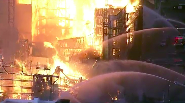 Oakland fire contained but evacuations in place