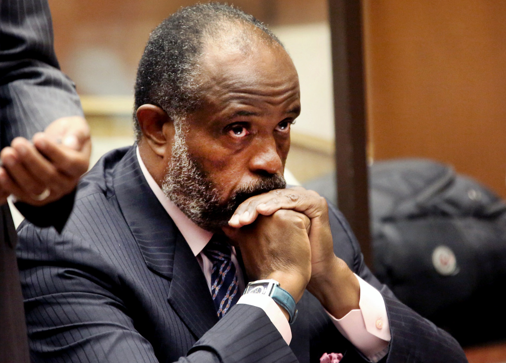 California state Sen. Rod Wright appears at a Los Angeles Courthouse during a hearing on Wednesday, Sept. 3, 2014. Wright was due to be sentenced Friday for lying about his legal residence.