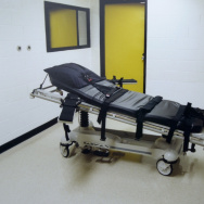 This undated photo shows the death chamber at the Georgia Diagnostic Prison in Jackson, GA. The California Supreme Court on Aug. 24 upheld a ballot measure narrowly approved by voters to change the state's death penalty system and speed up executions.