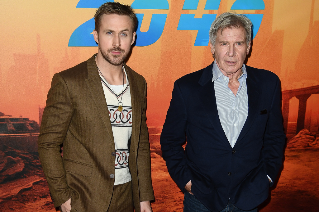 Ryan Gosling and Harrison Ford promote