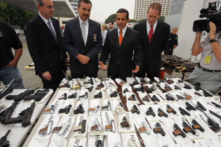 The LAPD holds a gun buyback program on Dec. 26, 2012.