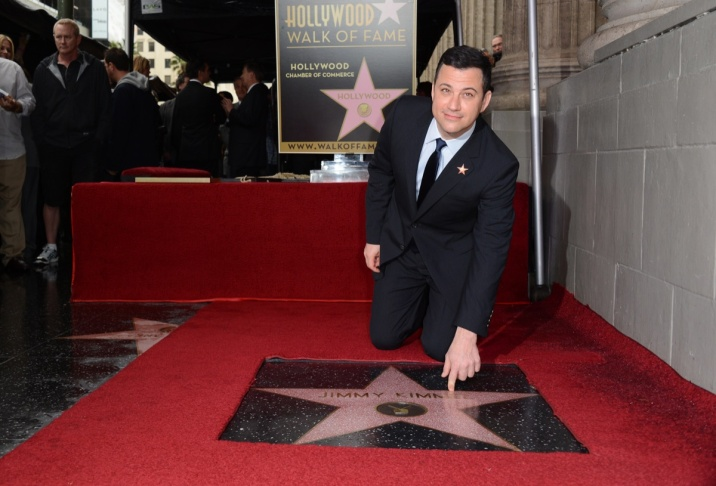 Comedian and television host Jimmy Kimmel is honored with a star on the Hollywood Walk of Fame on January 25, 2013 in Hollywood.