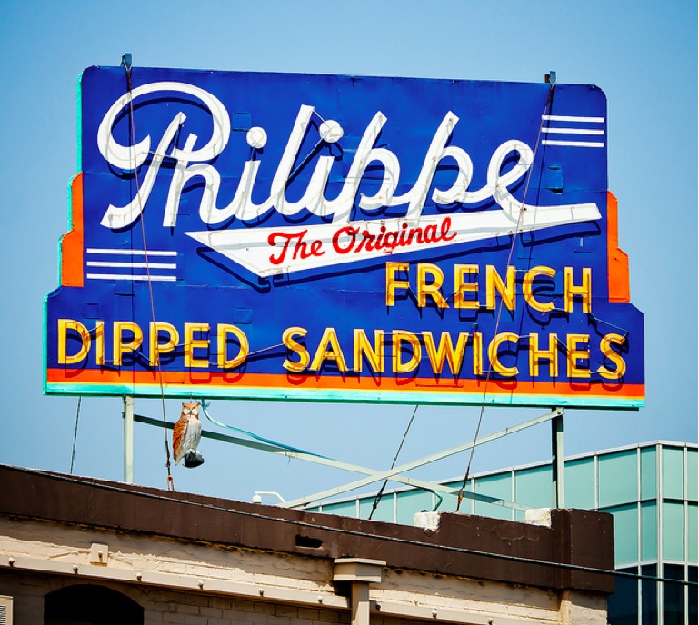 Philippe the Original, 1001 North Alameda Street, Los Angeles 90012.