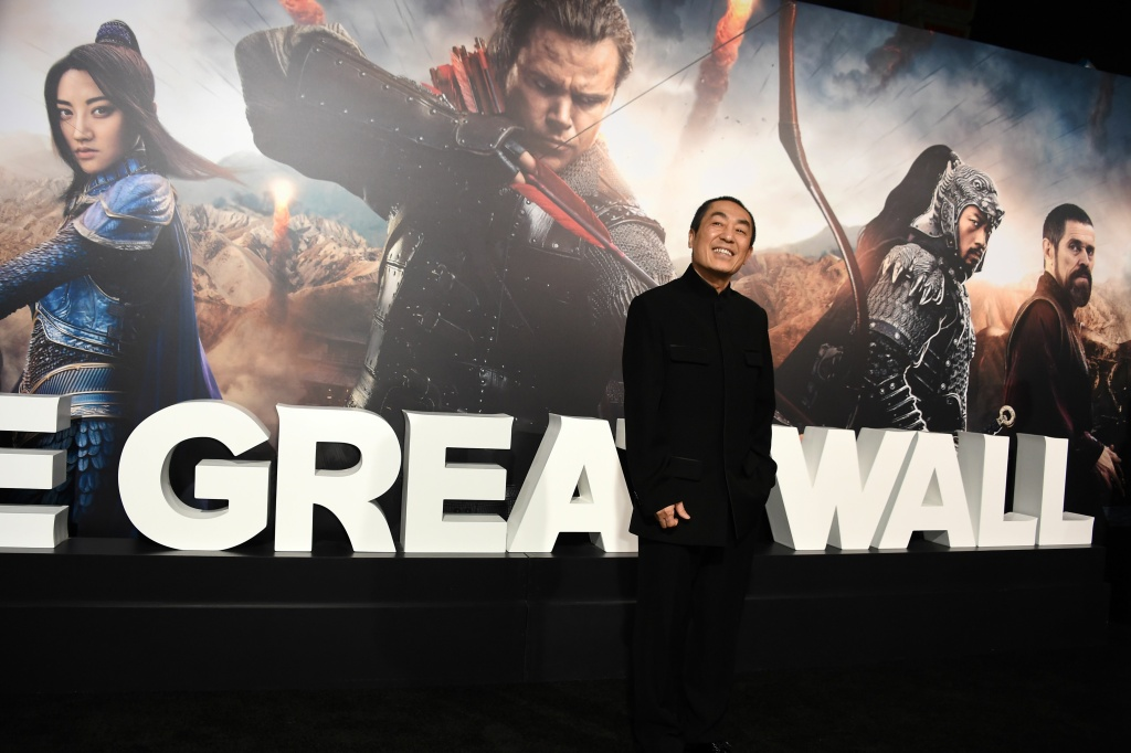 Director Zhang Yimou attends the premiere of Universal Pictures'