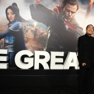 "Director Zhang Yimou attends the premiere of Universal Pictures' ""The Great Wall,"" February 15, 2017, at the TCL Chinese Theatre in Hollywood, California."