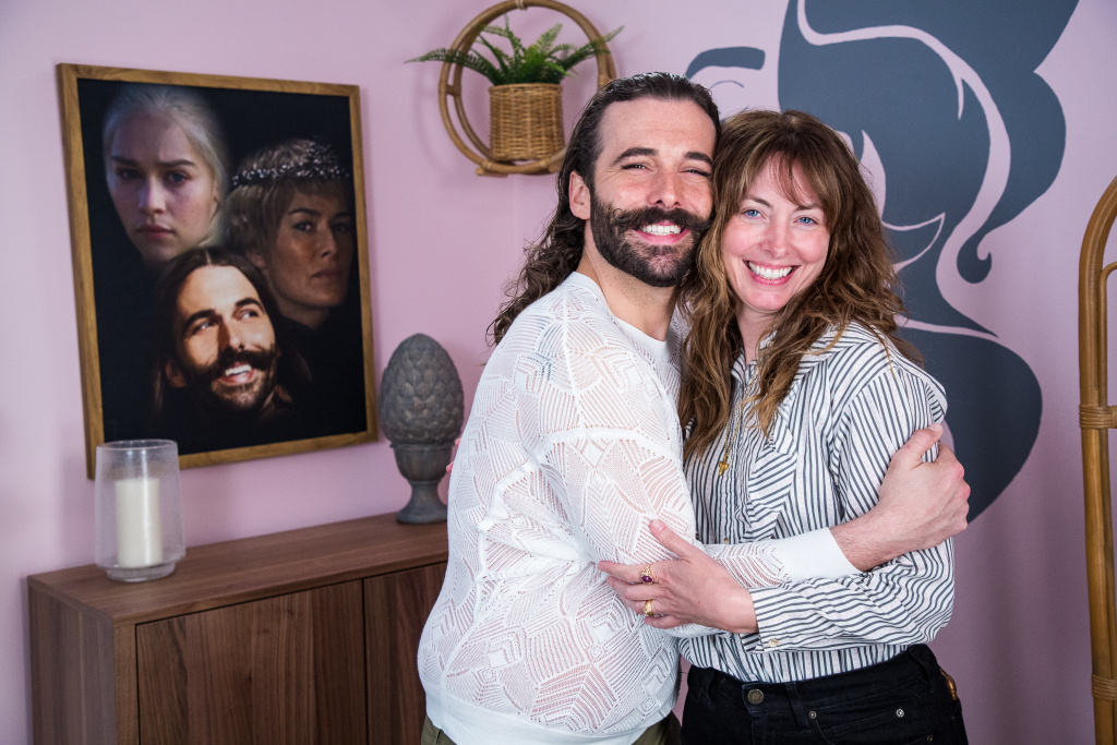Jonathan Van Ness and Erin Gibson, executive producers of the Funny or Die web series