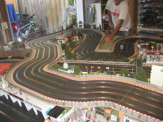 Stephen Farr-Jones' infamous indoor slot car race track
