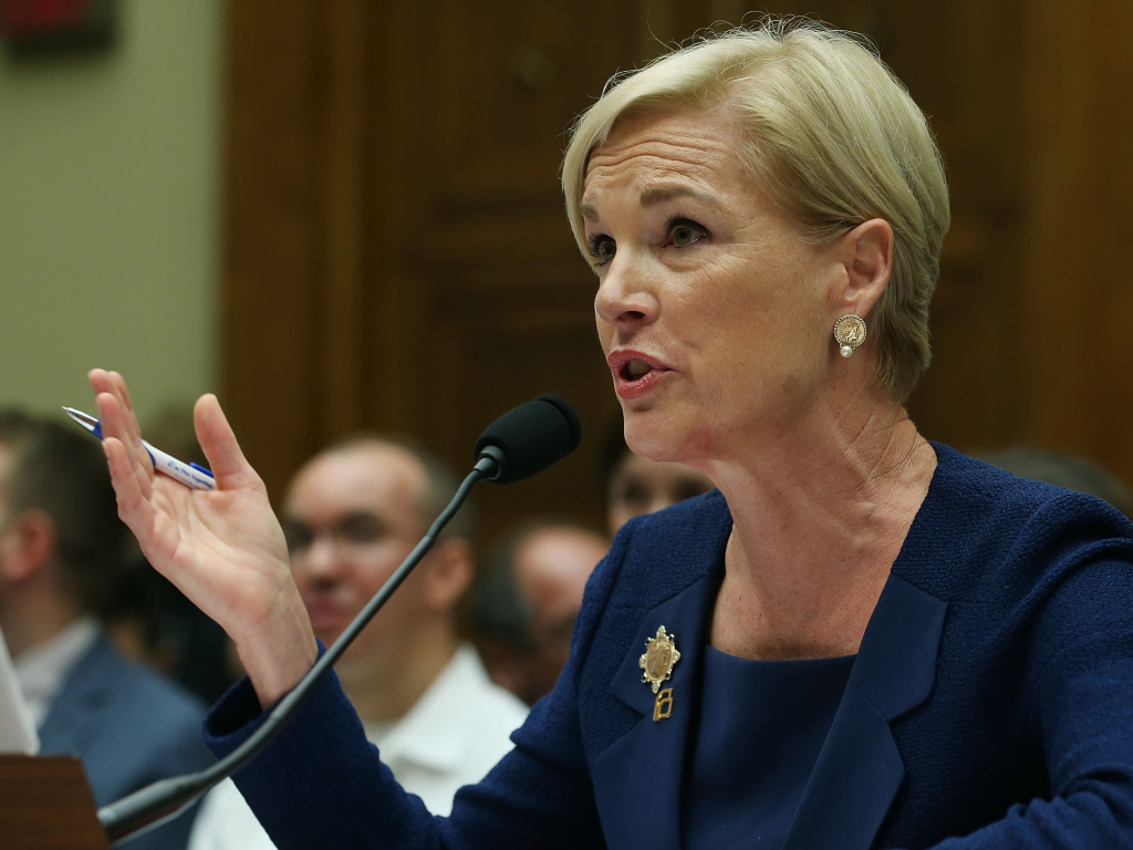 Cecile Richards, president of Planned Parenthood Federation of America Inc. testifies during a House Oversight and Government Reform Committee hearing on Capitol Hill.