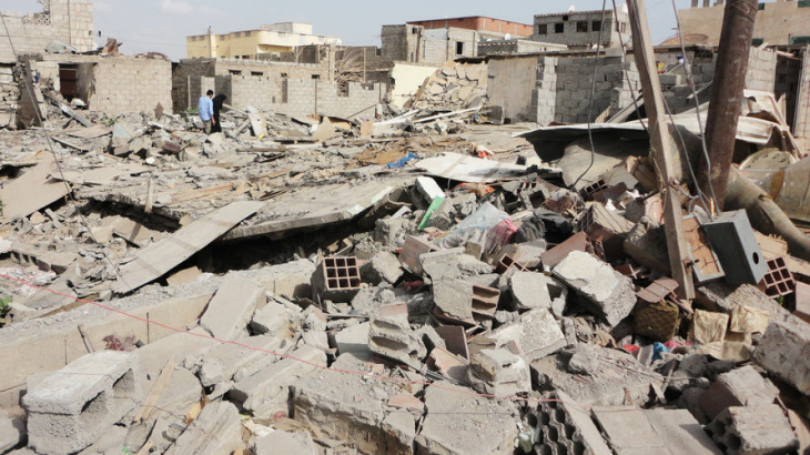 A May 15 airstrike targeting militants devastated this section of Jaar, in southern Yemen. Officials reported that two militants and eight civilians were killed in this particular strike. But residents told NPR that no militants were killed and 17 to 26 civilians died. This area was under the control of al-Qaida in the Arabian Peninsula and an allied group until last month.