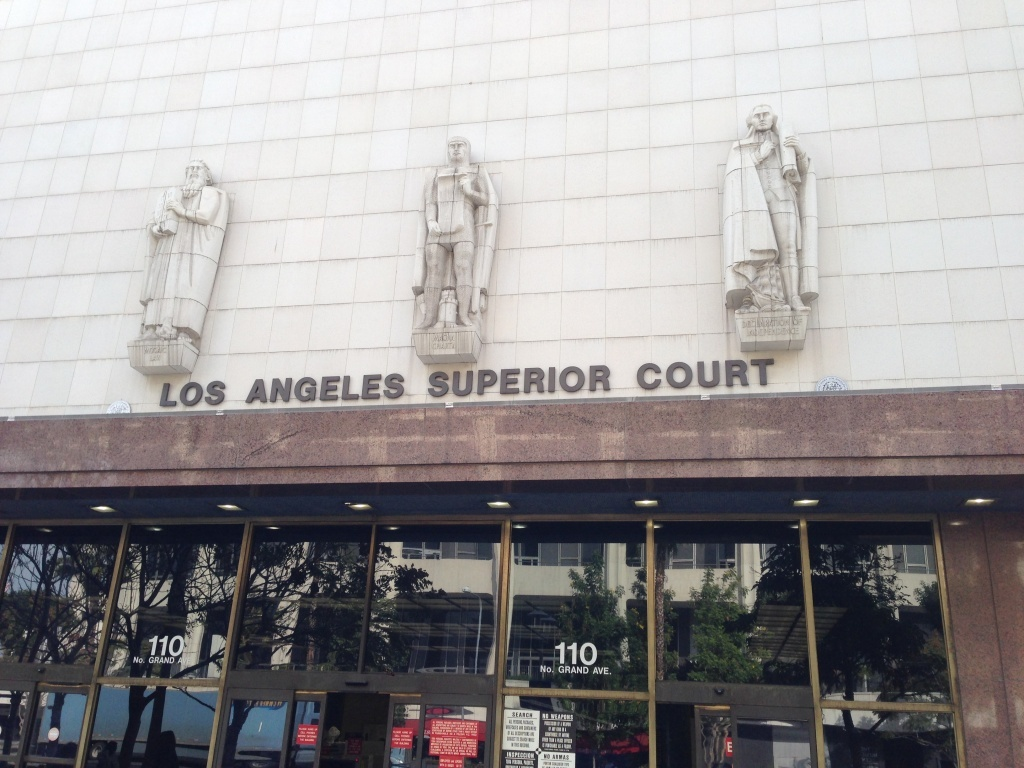 The Stanley Mosk courthouse in downtown Los Angeles.