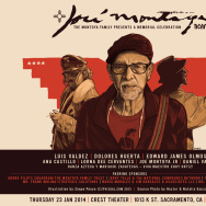 A poster advertising a tribute to Jose Montoya in Sacramento.