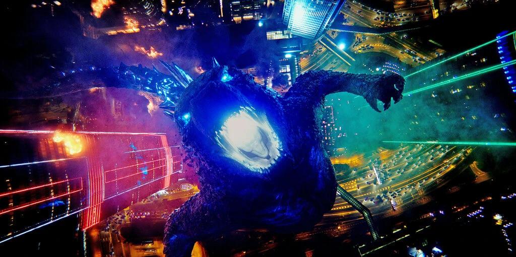 """Godzilla on the rampage in """"Godzilla vs. Kong.""""Credit..."""