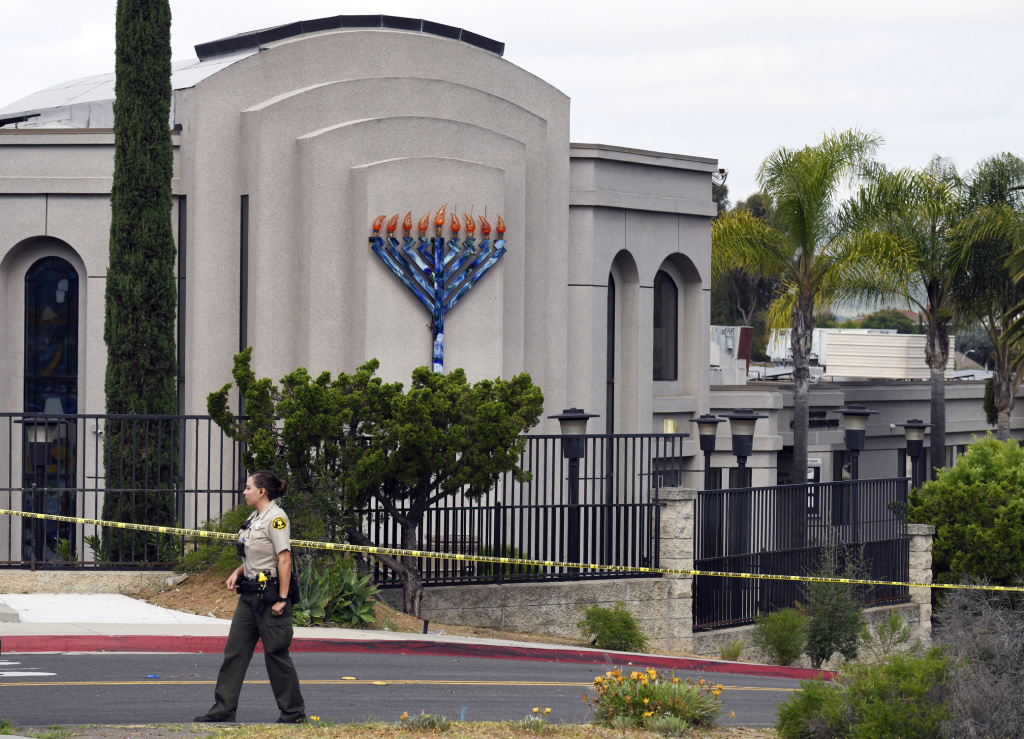 The Poway Chabad Synagogue in Poway, Ca., was attacked last month when a gunman fired at Passover worshippers. The FBI says it is currently investigating 850 cases of domestic terrorism.