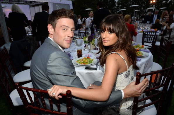 Actors Cory Monteith (L) and Lea Michele attend the 12th Annual Chrysalis Butterfly Ball on June 8, 2013 in Los Angeles, California.