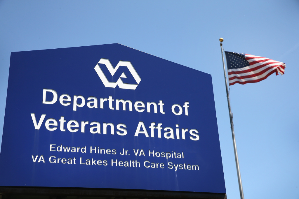 File: A sign marks the entrance to the Edward Hines Jr. VA Hospital on May 30, 2014 in Hines, Illinois.