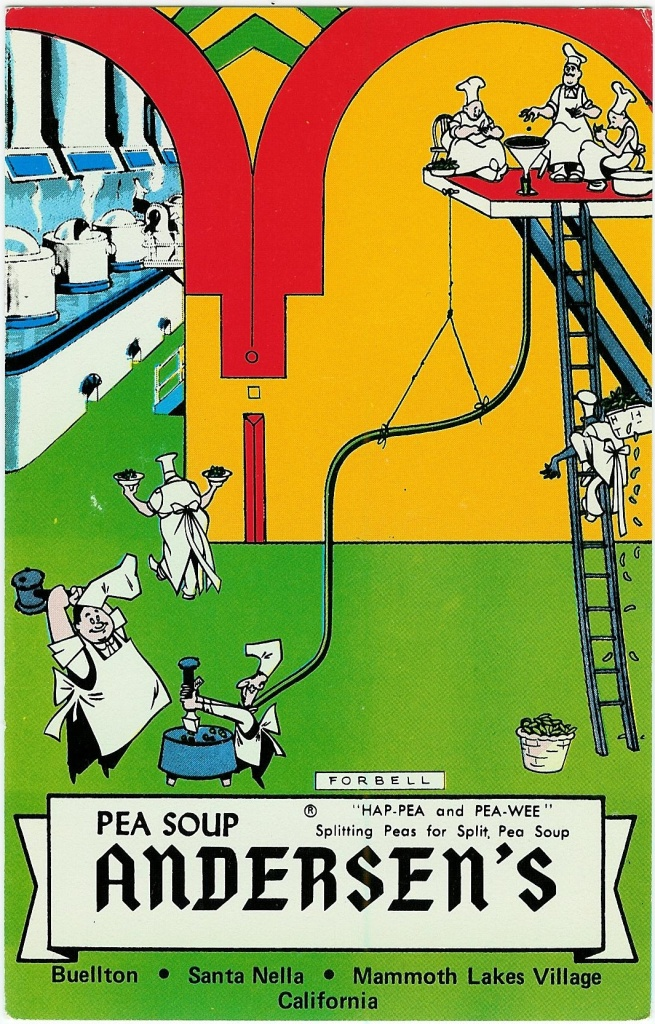 The comedy duo Bob & Ray developed Andersen's famous duo, Hap Pea and Pea Wee, still going strong 50 years later.