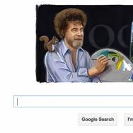 bob ross google doodle