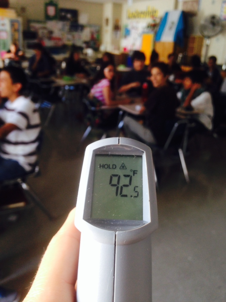 some la unified students wilting in heat waiting for air