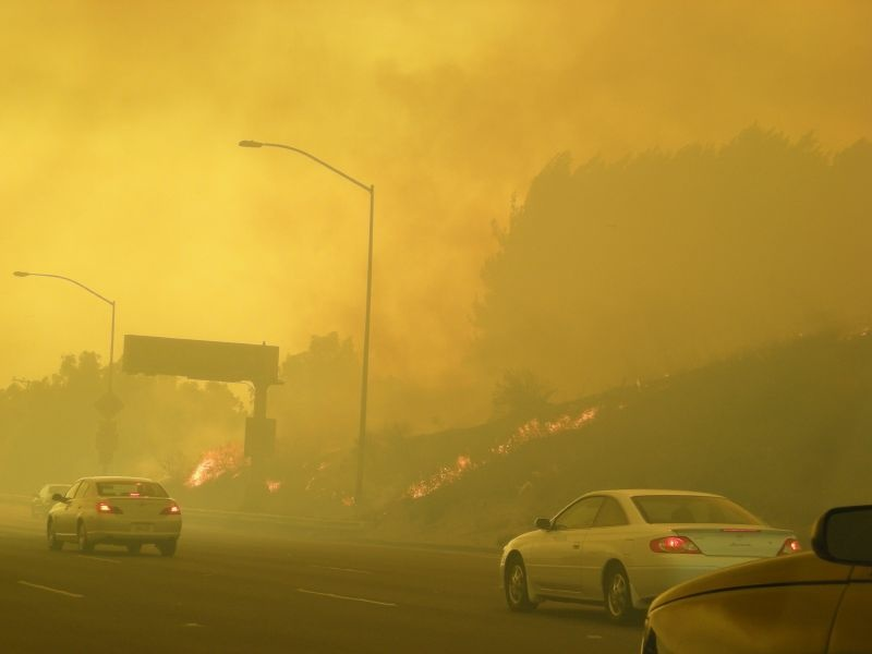 The 57 Freeway on Fire