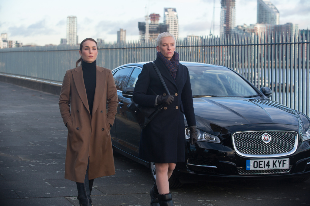 (L-R) Noomi Rapace and Toni Collette star in