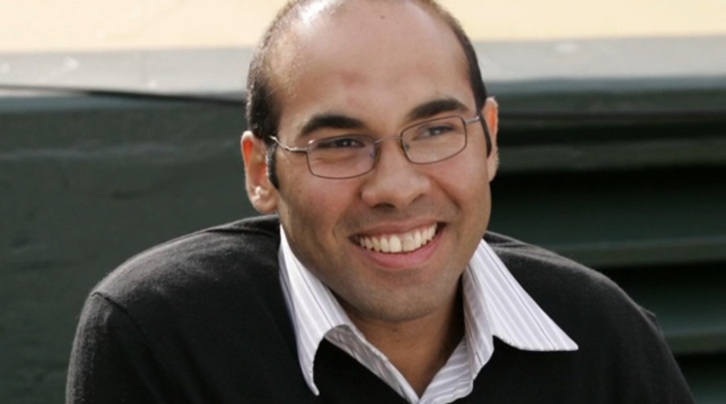 New Dodgers Gm Farhan Zaidi, seen in a screenshot from MLB.com.