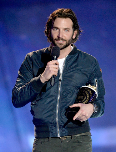 Actor Bradley Cooper accepts Best Male Performance award for