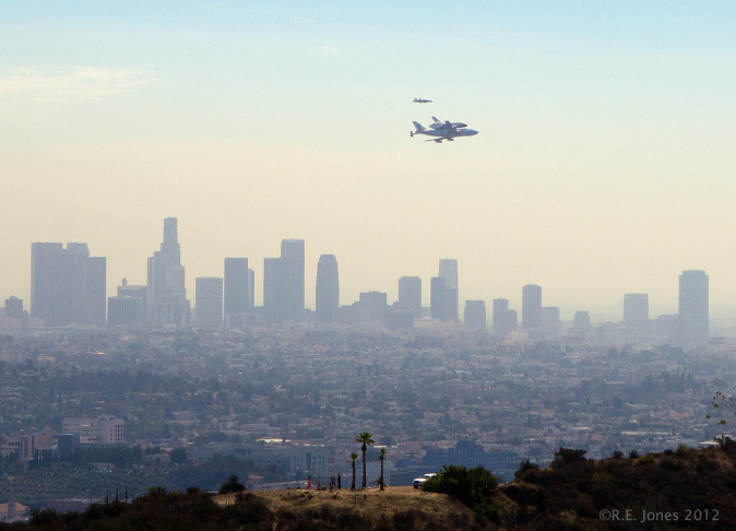 Endeavour arrives in Los Angeles.