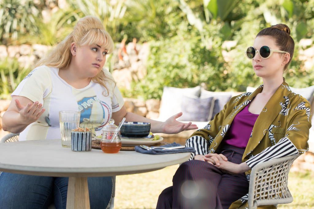 Rebel Wilson stars as Penny Rust and Anne Hathaway as Josephine Chesterfield in THE HUSTLE, a Metro Goldwyn Mayer Pictures film.