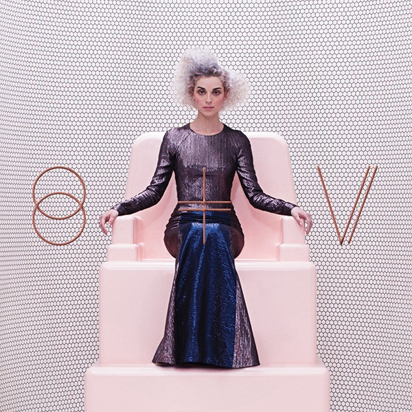 The cover for St. Vincent's new self titled album.