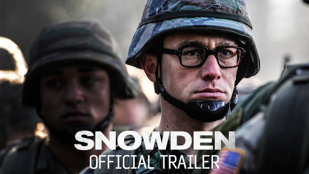 The trailer for the new film 'Snowden.'