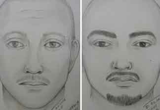 A sketch of two suspects in Thursday's attack on a Giants fan at Dodger Stadium