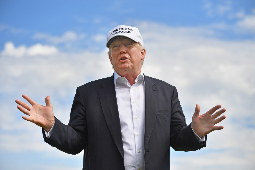 Presumptive Republican nominee for US president Donald Trump visits Trump International Golf Links.