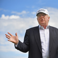 Presumptive Republican nominee for US president Donald Trump visits Trump International Golf Links.