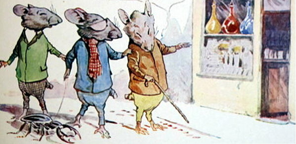 Three blind mice seek a solution